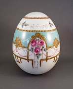 Easter Ceramics Originals - 1503 Egg Faberge Style by Wilma Manhardt