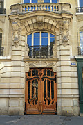 France Doors Framed Prints - 151 Rue de Grenelle Paris Framed Print by Louise Heusinkveld