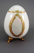 Easter Ceramics Originals - 1516 Egg with Luster and Raised Paste Gold by Wilma Manhardt