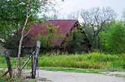 Country Dirt Roads Photos - 1566 Barn by Lisa Moore