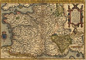 History Channel Posters - 1570 Map Of France. From Abraham Poster by Everett