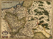 1570 Map Of  Poland. Polands Political Print by Everett