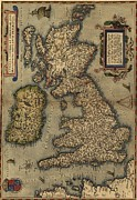 History Channel Metal Prints - 1570 Map Of The British Isles. From Metal Print by Everett