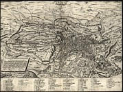 World Cities Posters - 1575 View Of Rome, Showing Major Poster by Everett