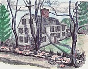 1907 Drawings Prints - 159 Locust Street Danvers Print by Paul Meinerth