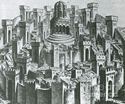 Jerusalem Photos - 15th Century Woodcut Of Jerusalem by Science Source