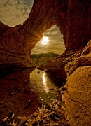 Sandstone Canyons Photos - Amazing Bridge Mountain by Scott Warner