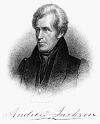 Autograph Framed Prints - Andrew Jackson (1767-1845) Framed Print by Granger