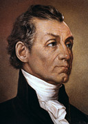 19th Century America Metal Prints - James Monroe (1758-1831) Metal Print by Granger