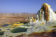 Mound Metal Prints - Potassium Salt Deposits, Dallol Metal Print by Richard Roscoe