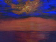 Lam Lam Posters - Seascape Sunset Poster by Lam Lam
