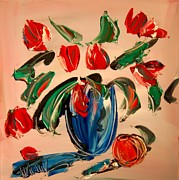 Snow Tree Prints Painting Prints - Tulips Print by Mark Kazav