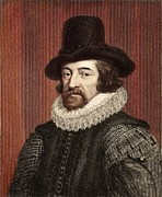Francis Prints - 1618 Francis Bacon Portrait Philosopher Print by Paul D Stewart