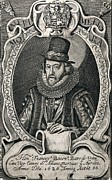 Francis Prints - 1626 Francis Bacon Portrait Philosopher Print by Paul D Stewart