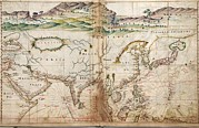 Maps Prints - 1630 Portuguese Maps, Showing Details Print by Everett