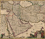 Armenia Prints - 1666 Map Of Southwest Asia, Showing Print by Everett