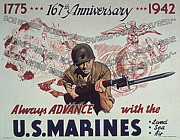 Ww Ii Framed Prints - 167th Marine Anniversy Framed Print by Purcell Pictures