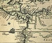1698 W. Dampier Pirate Naturalist Map Print by Paul D Stewart