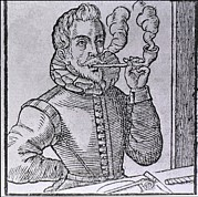 16th Century Dutchman Smoking Print by Everett