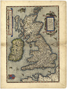 Theatrum Orbis Terrarum Framed Prints - 16th Century Map Of The British Isles Framed Print by Library Of Congress, Geography And Map Division