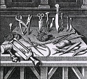 Saw Prints - 16th Century Surgical Equipment Print by Everett