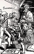 Amputation Prints - 16th Century Woodcut Showing Leg Amputation Print by Dr Jeremy Burgess