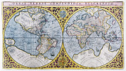Old Earth Map Prints - 16th Century World Map Print by Georgette Douwma