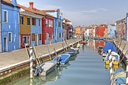 Farbig Framed Prints - Burano Framed Print by Joana Kruse