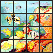 Colorful Fish Framed Prints - 17 Fish Framed Print by Jennifer Lommers