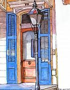 New Orleans Drawings - 17  House with Blue Shutters by John Boles