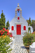 Clock Tower Photos - Mykonos by Joana Kruse