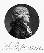 Saint Julien Posters - Thomas Jefferson (1743-1826) Poster by Granger