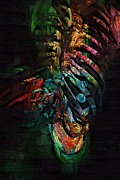 Therapy Digital Art Prints - Torso Skeleton Print by Joseph Ventura