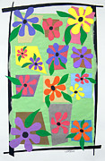 Purple Flowers Tapestries - Textiles Posters - Untitled Poster by Teddy Campagna