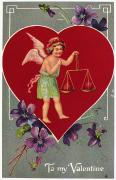 Putto Prints - Valentines Day Card Print by Granger