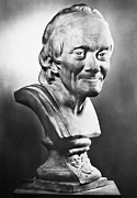 Statue Portrait Photo Prints - Voltaire (1694-1778) Print by Granger