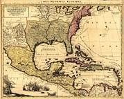 1710 Dutch Map Of North America Print by Everett
