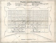 Maps Photos - 1722 Plan Of New Orleans, The Area That by Everett
