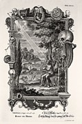 Creationist Framed Prints - 1731 Johann Scheuchzer Creation Of Man Framed Print by Paul D Stewart