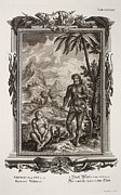 Creationism Framed Prints - 1731 Johann Scheuchzer Hairy Esau Bible Framed Print by Paul D Stewart
