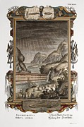 Creationism Framed Prints - 1731 Johann Scheuchzer Noahs Ark Flood Framed Print by Paul D Stewart