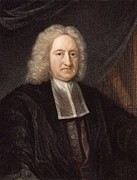 Halley Framed Prints - 1736 Edmond Halley Astronomer & Physicist Framed Print by Paul D Stewart