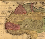 African Kingdoms Prints - 1742 French Map Of Northwest Africa Print by Everett
