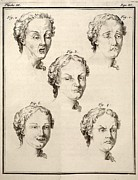 1749 Human Emotions And Expression Buffon Print by Paul D Stewart