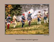 French Revolution Prints - 1758 French Attach on Fort Ligonier Pennsylvania Print by Randy Steele