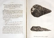 Palaeolithic Framed Prints - 1797 First Handaxe John Frere Of Hoxne 1 Framed Print by Paul D Stewart