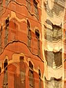 City Buildings Art - Abstract by Tony Cordoza