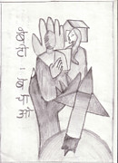 Save The Girl Child Drawings - 18 by Divisha Desai