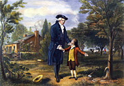 Young Colonial Boy Prints - George Washington Print by Granger