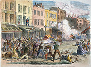 Draft Posters - New York: Draft Riots 1863 Poster by Granger